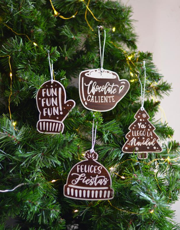 Set Adornos Sweet Navidad Diseño Exclusivo Knots Made With Love Navidad Adornos Adornos De Navidad Arbol