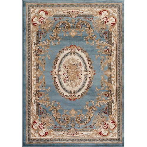 Found it at Wayfair - Traditional Blue Area Rug