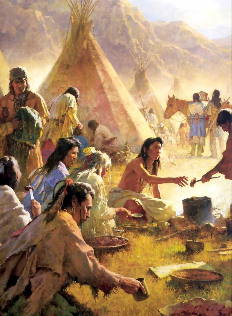 Country Buffet Feast Culture Native American
