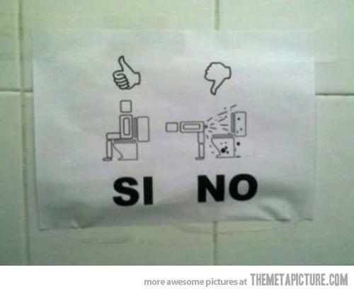 Cross legged Men's Bathroom Humor Signs