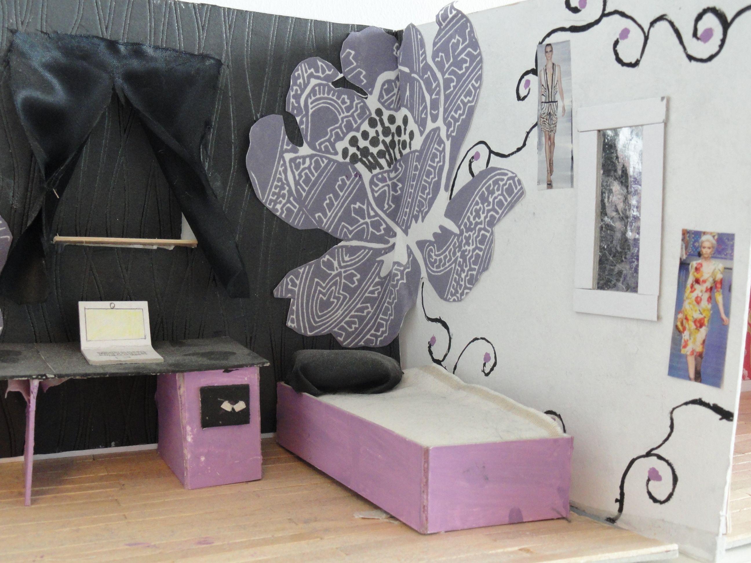 Voorbeeld maquette slaapkamer interieur 3d pinterest for Slaapkamer inrichting voorbeelden