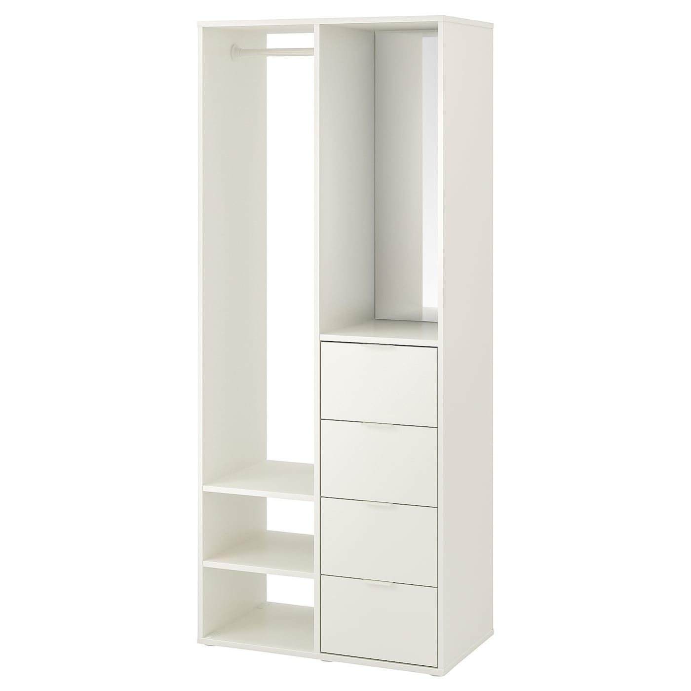 Sundlandet Open Wardrobe White 31 1 8x17 3 8x73 5 8 Ikea Open Wardrobe Ikea Clothes Rail