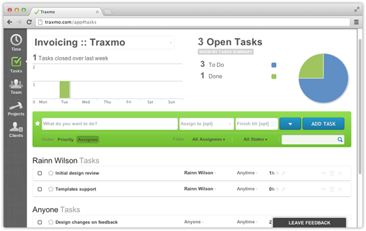 Traxmo Time Tracking Task Management  Invoicing HttpTraxmo