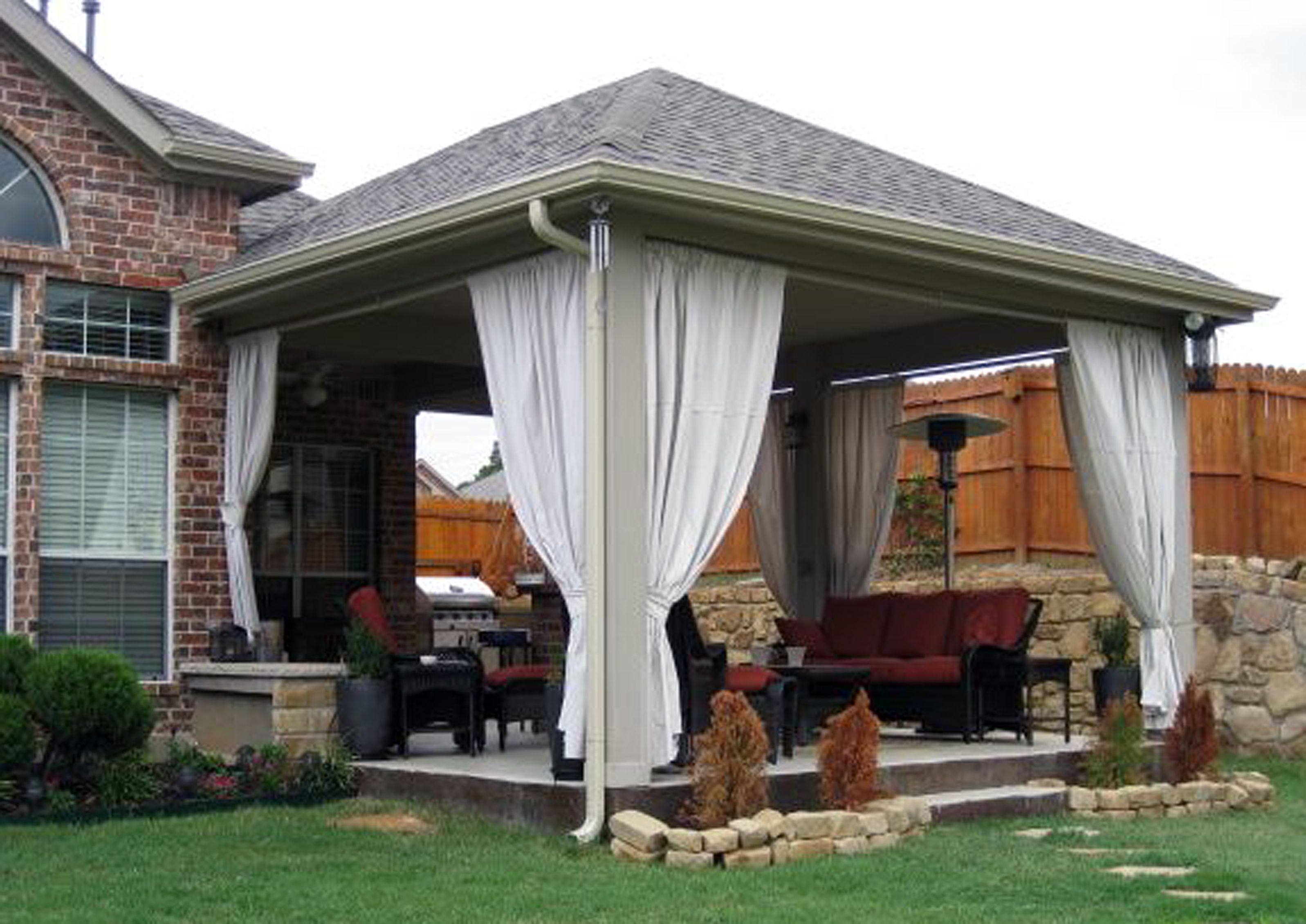 patio with roof home design ideas and pictures
