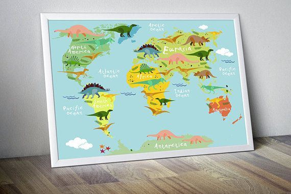 Nursery world map nursery map for kids world map for kids kids nursery world map nursery map for kids world map for kids kids wall art kids world map canvas dinosaur world map dinosaur poster nursery art gumiabroncs Images