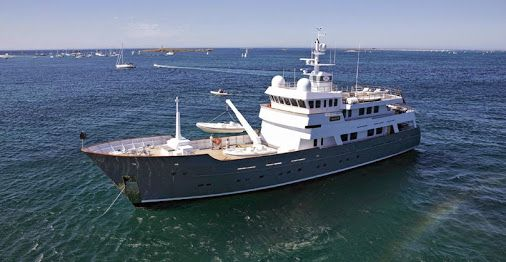 """""""AXANTHA II"""" the 43m explorer yacht from JFA Yachts is listed for sale by Neoyachting. Asking price: €18,500,000."""