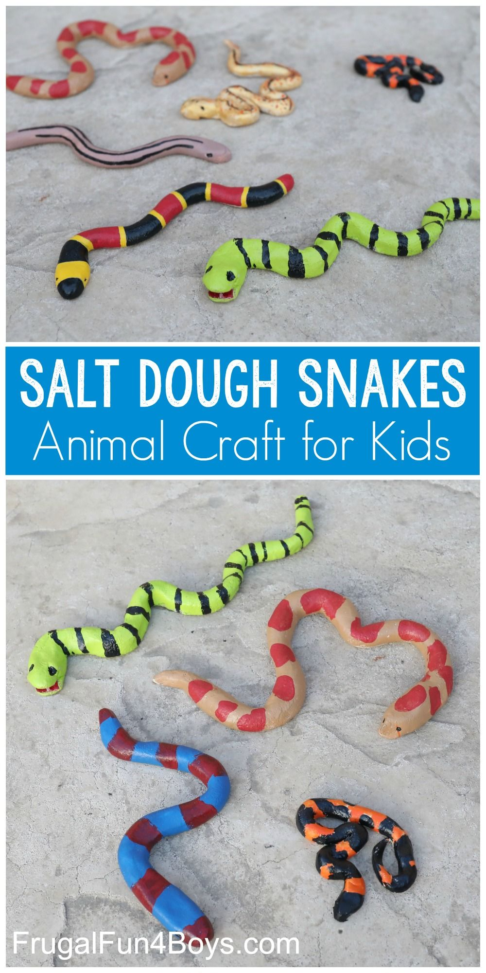 Photo of Salt Dough Snake Craft – Frugal Fun For Boys and Girls