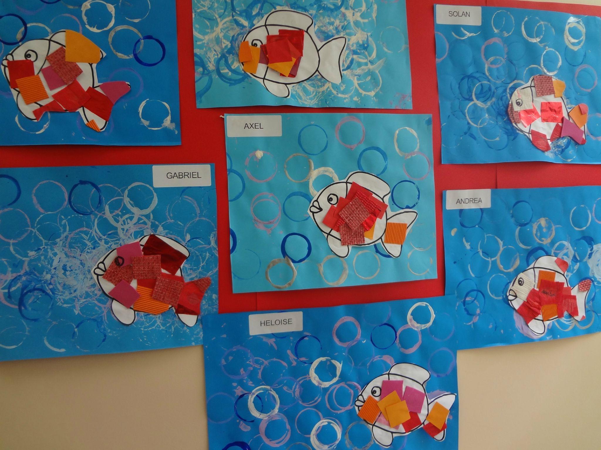 Poisson rouge poisson pinterest fische sommer et - Le petit poisson rouge maternelle ...