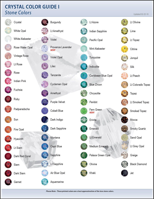 Swarovski color chart i stone bead chartsdiagrams size swarovski color chart i stone nvjuhfo Gallery