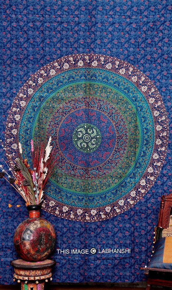 hippie hippie tenture murale tapisserie de mandala par. Black Bedroom Furniture Sets. Home Design Ideas