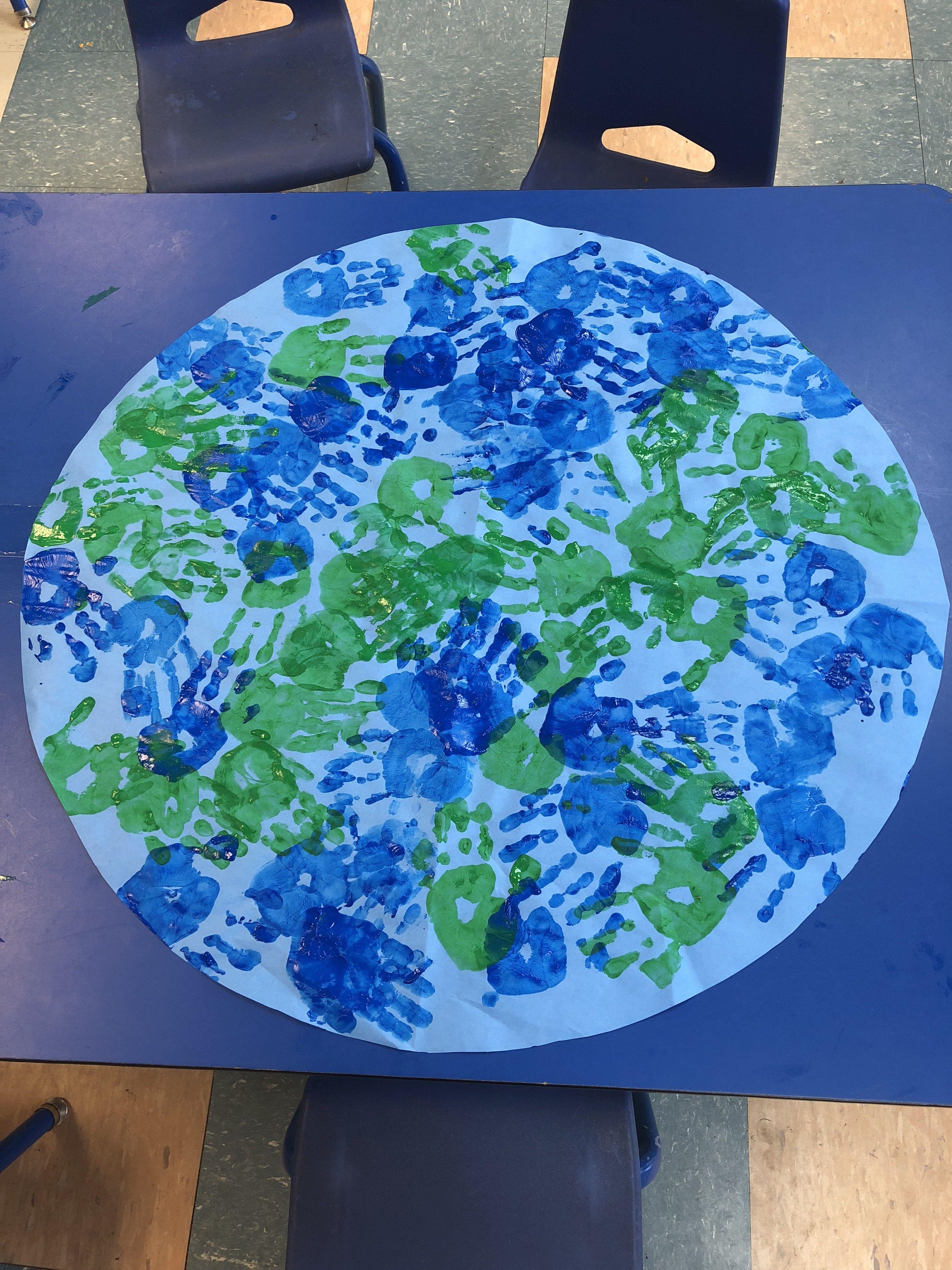 Earth Day Classroom Earth Classroomearth Handprint