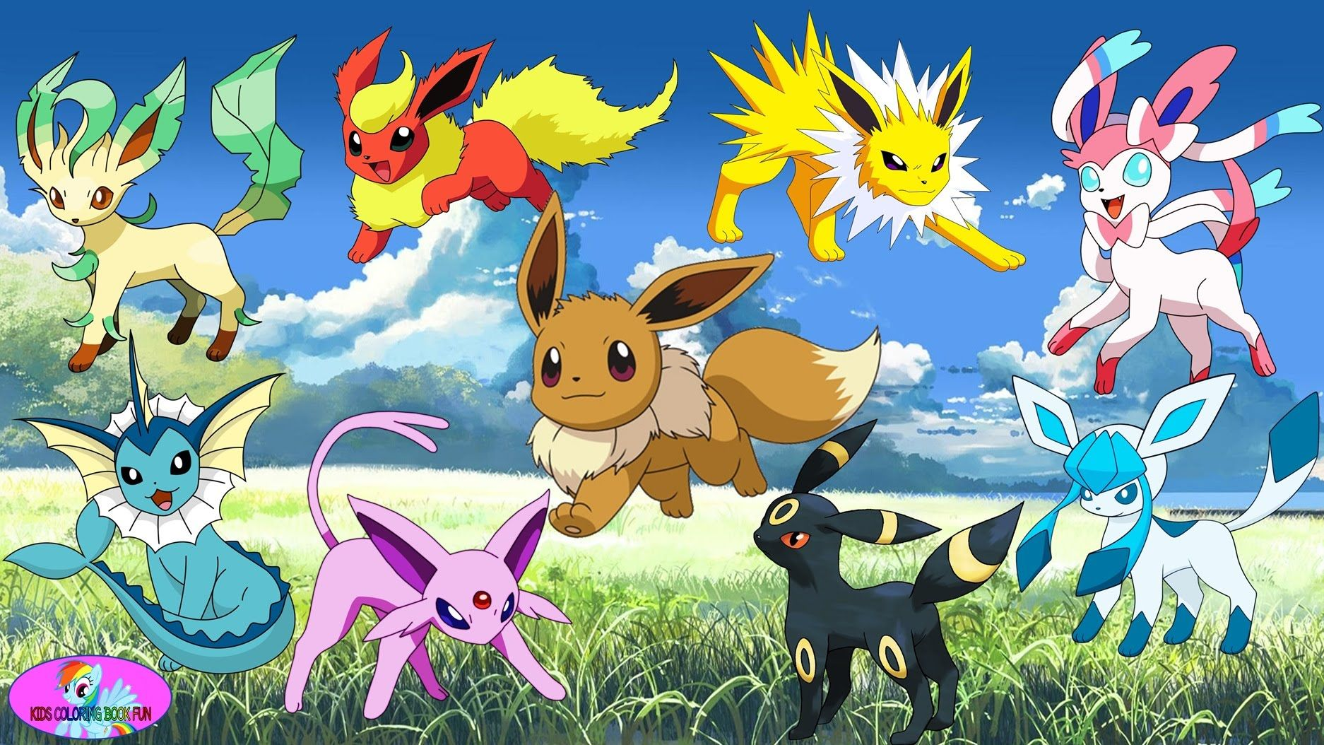 Vaporeon Pokemon Coloring Pages Eevee Evolutions