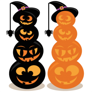 Stacked Jack O Lanterns Clip Art