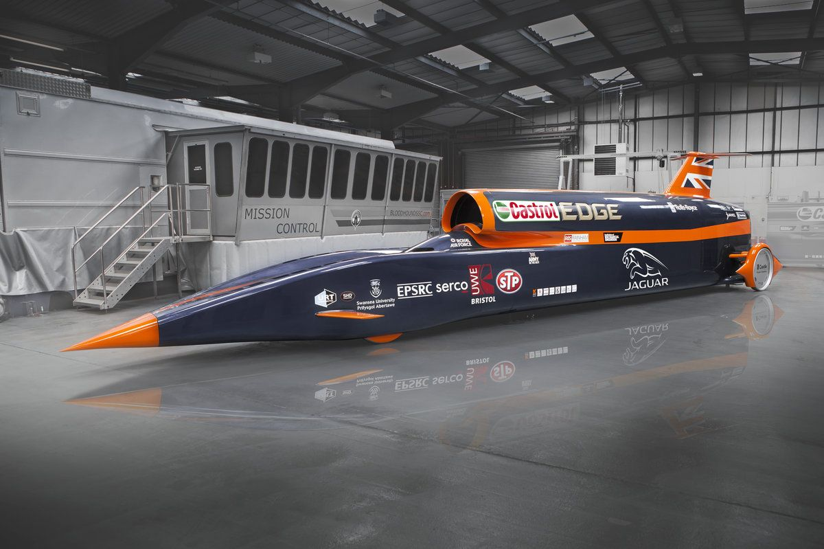 See The 1 000mph Car Cruising To Land Speed Glory Bloodhound Car Fast Cars