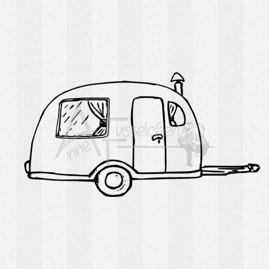 Motivstempel - Wohnwagen 02