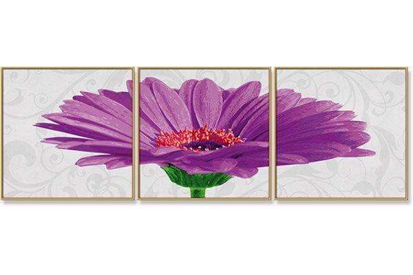 Gerbera Jamesonii - schilderen op nummer -  120 x 40 cm
