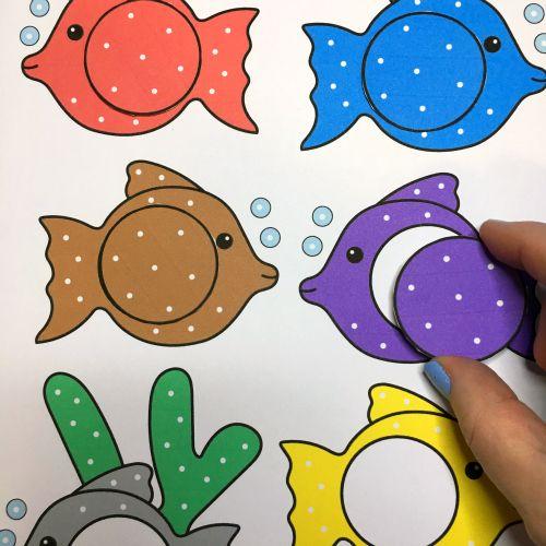 fish color match for preschool and kindergarten - Kindergarten Color Games