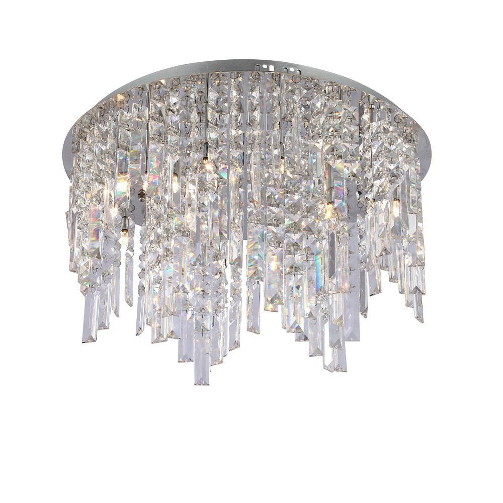 Zyrandol Krysztalowy Minya Plafon Chrom Italux Mp4810 12 R Kolo Ceiling Lights Chandelier Decor