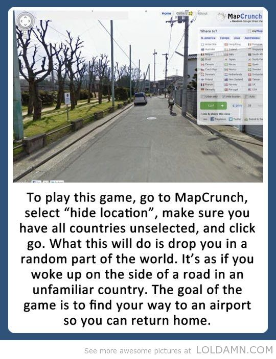 Lol this is fun! Although the first time I tried this, I landed on some road in Singapore... right beside an airport -_-