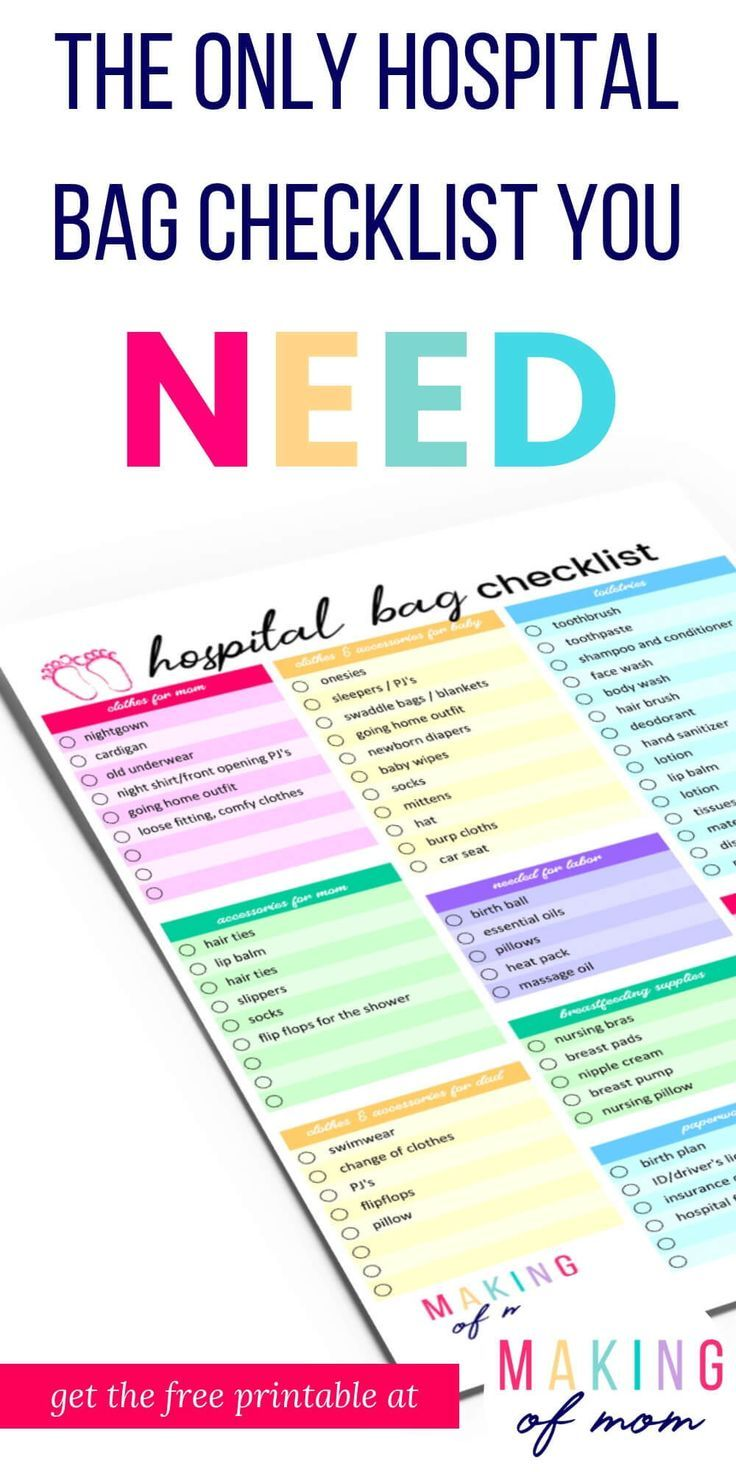 The Only Hospital Bag Checklist You Ll Need Plus Free Printable
