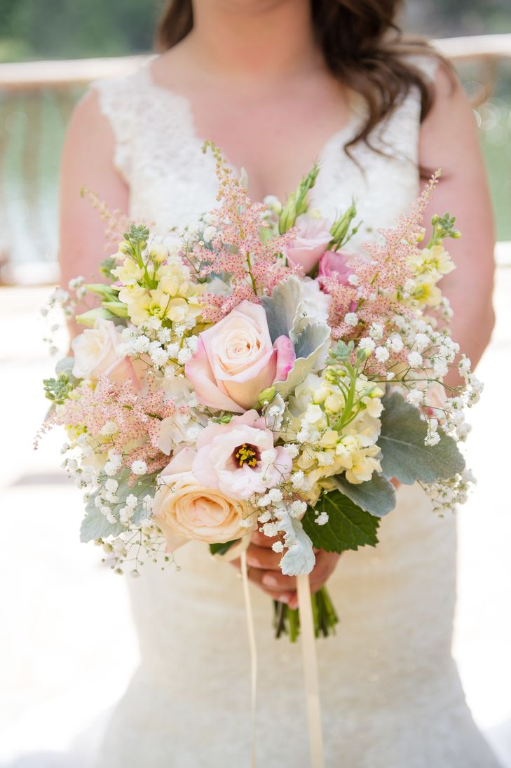 blush and ivory wildflower bridal bouquet a perfect wedding floral design https