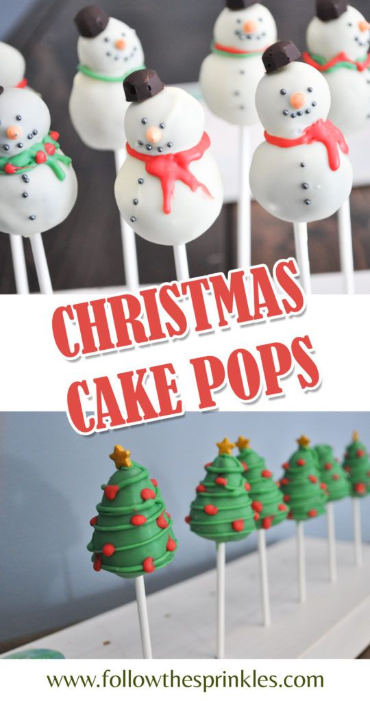 christmas cake pops, ideas for holiday baking. Easy home baking project.