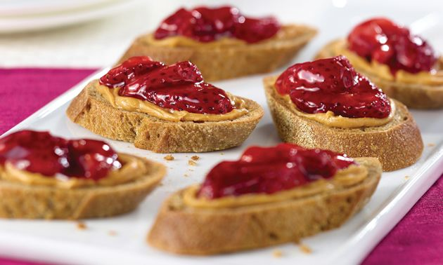 peanut butter and jelly party appetizers hahah since