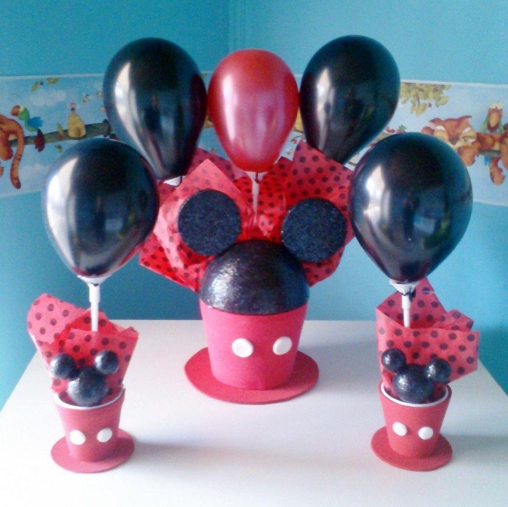 Centro de mesa y souvenirs de mickey con globos minnie - Centros de mesa con globos ...