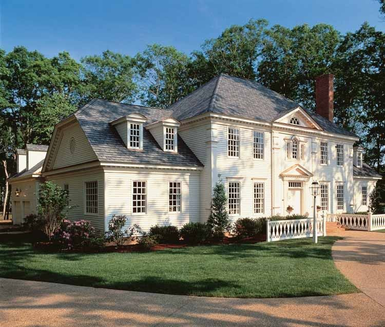 Eplans Georgian House Plan Providence 4204 Square Feet And 4 Bedrooms S From Eplans House Plan Colonial House Plans Colonial House Colonial Style Homes
