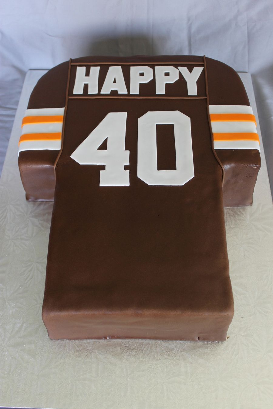 best service 47838 6ed75 Cleveland Browns Jersey Cake | R3d in 2019 | 50th birthday ...