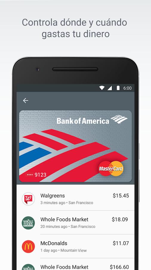 Android Pay captura de pantalla Android pay, Captura de