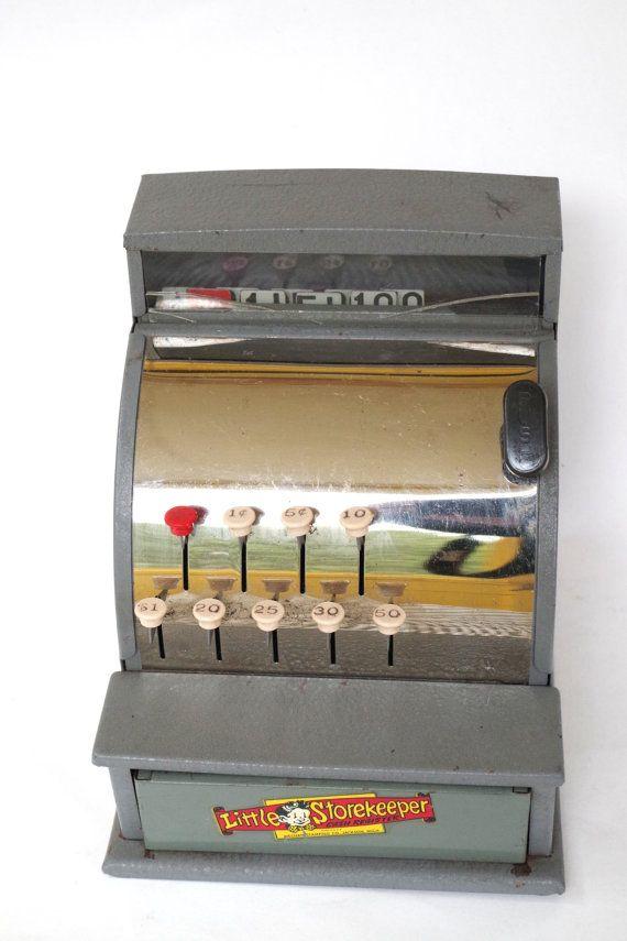Vintage 1950s Little Shop Keeper Toy Metal by retrowarehouse