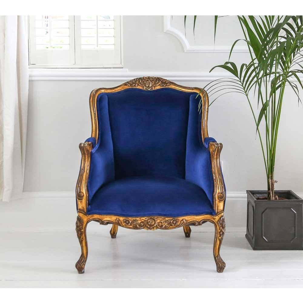 Palais de Versailles Sacré Bleu Velvet Armchair in 2019 ...