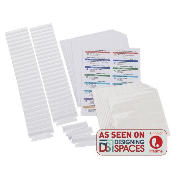 viewables premium 3d hanging folder tabs labels 100