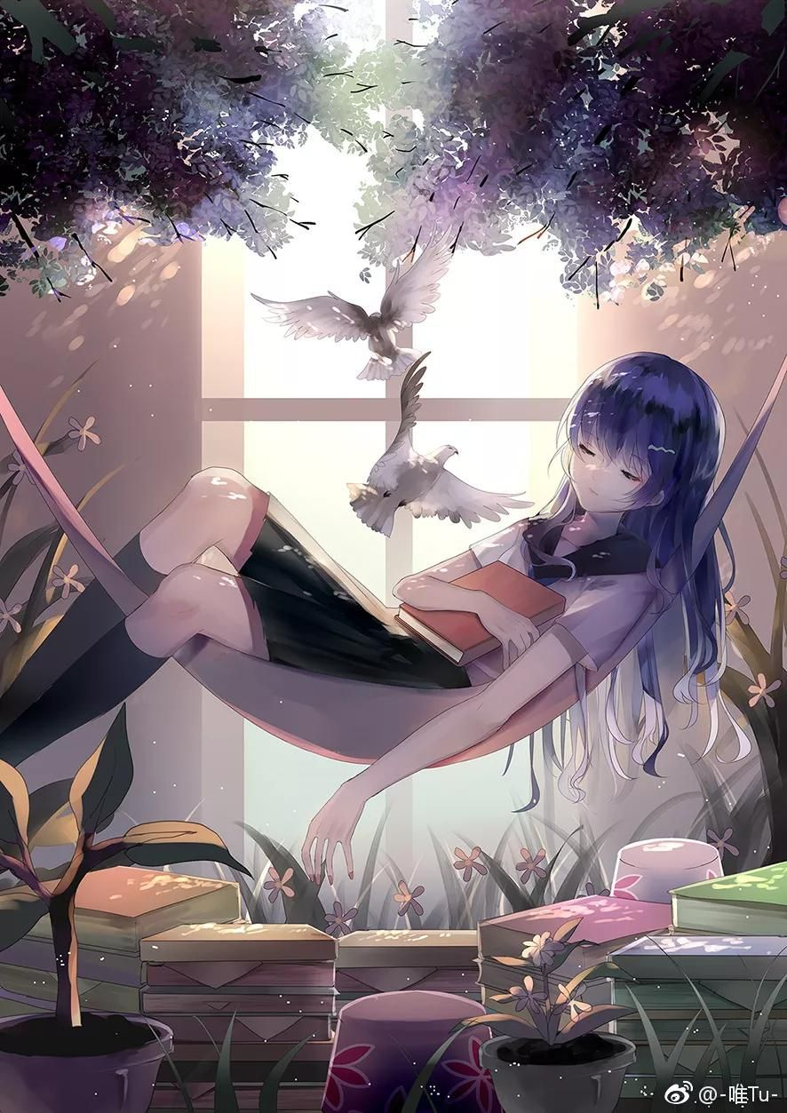 Anime Cute Girl  Anime, Anime scenery, Anime summer
