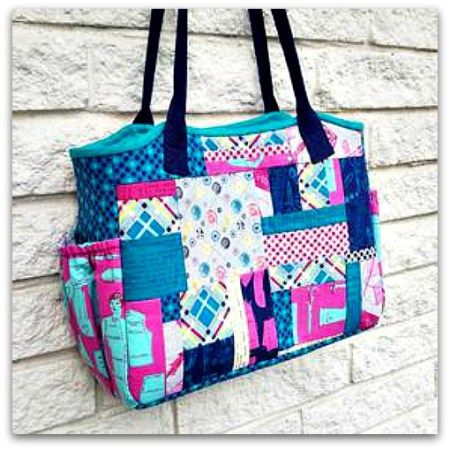 Easy MultiPocket Tote Bag Free Sewing Tutorial Diy Pinterest Delectable Free Bag Patterns To Download Pdf