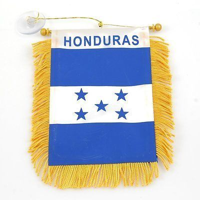 HONDURAS Mini Banner Flag Great For Car /& Home Window Mirror Hanging 2 Sided
