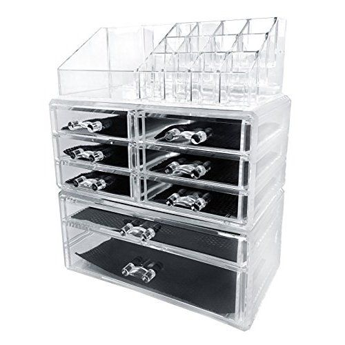 Ikee Design Luxury Cosmetic Makeup Acrylic Organizer With TwoSided