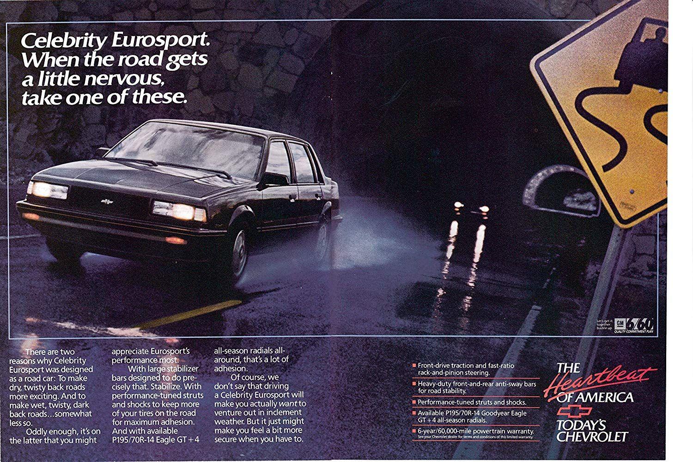 Amazon Com 1989 Chevrolet Celebrity Eurosport Original 2 Page