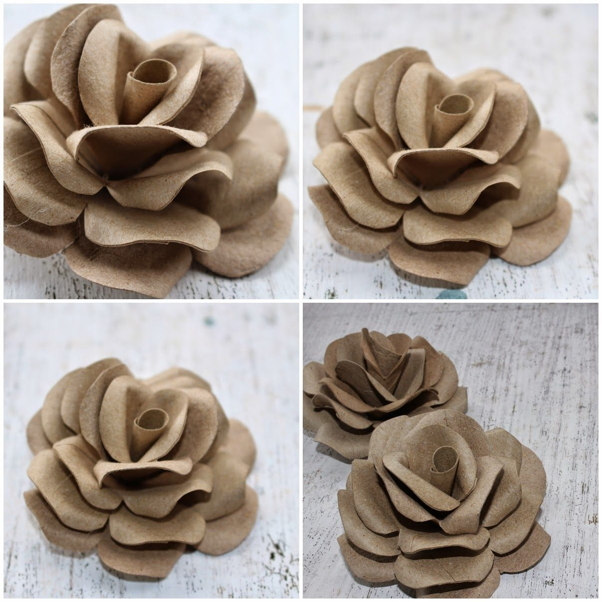Diy How To Make Roses Using Empty Toilet Tissue Tubes