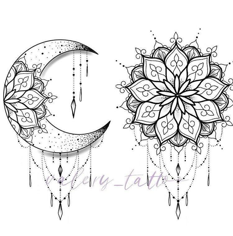 My Tattoos Moon Tattoo Designs Mandala Tattoo Design Moon Tattoo