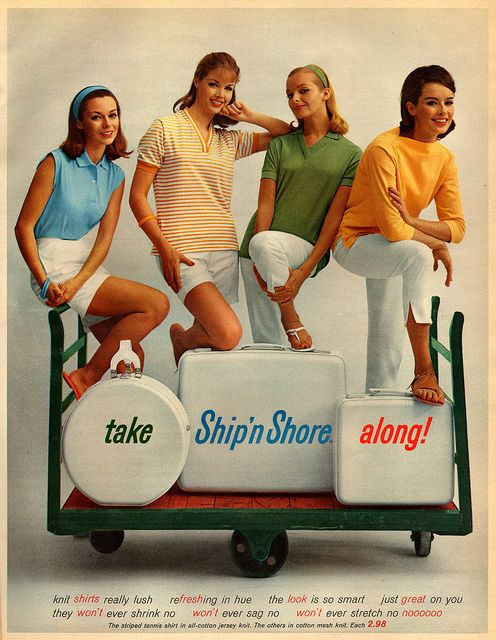 Wonderfully classic, subtly preppy early 1960s summer looks. #vintage #retro #1960s #fashion #summer