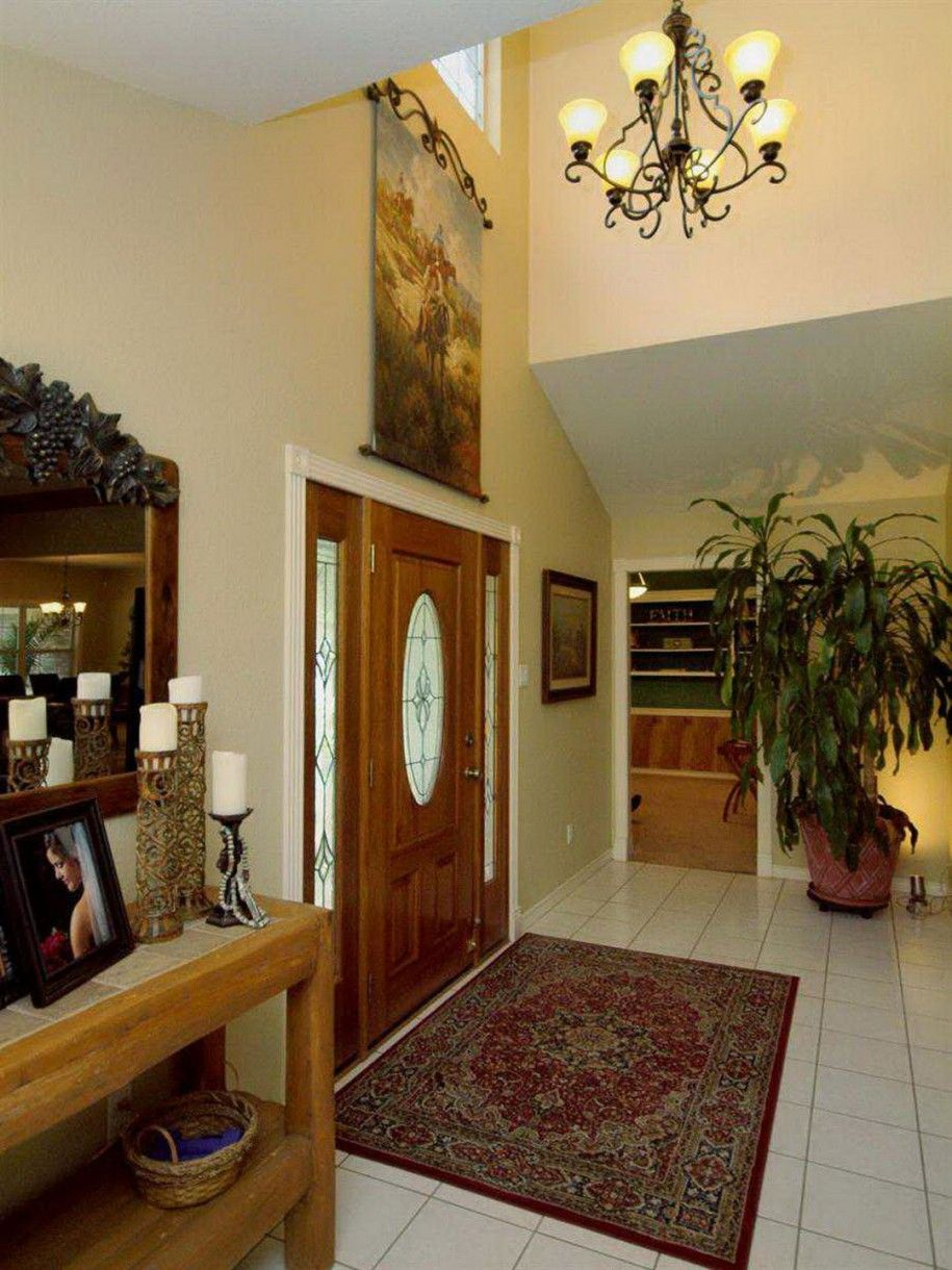 Foyer wall decorating ideas google search entrance way for Front foyer design ideas