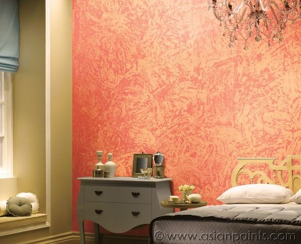 wall paint designs pink peach colours asian paints royale play - Wall Paint Design