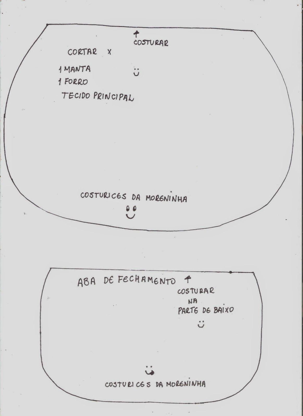 Costurices da Moreninha: Passo-a-passo clutch (bolsinha de mão)