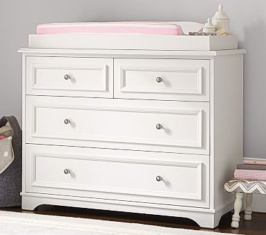 Fillmore Dresser & Changing Table Topper, Simply White | Bebe