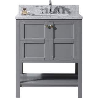 Virtu Usa Winterfell 30 Inch Single Round Bathroom Vanity Set
