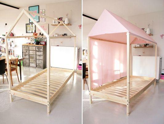 DIY Le Fameux Lit Cabane Tête Dange Kids Design Pinterest - Lit cabane 140x190