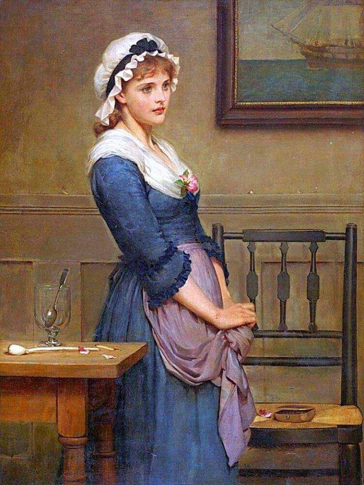 Joseph Caraud Das Kirschenmädchen Giclee Canvas Print
