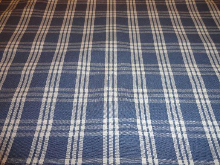 Waverly Pendant Plaid Navy Blue Upholstery Fabric